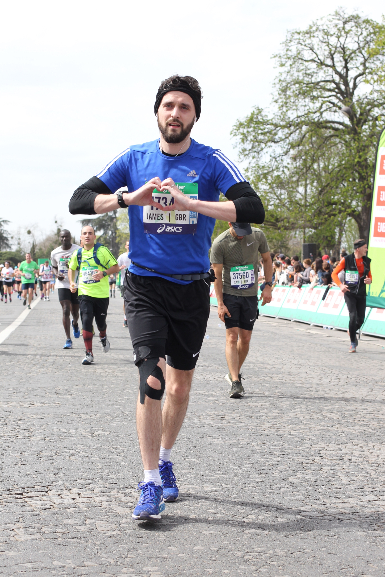 My husband, James, who was in utter agony for 20 miles - but kept going. Proof that formidable mental resilience is as important as physical endurance when it comes to the marathon!