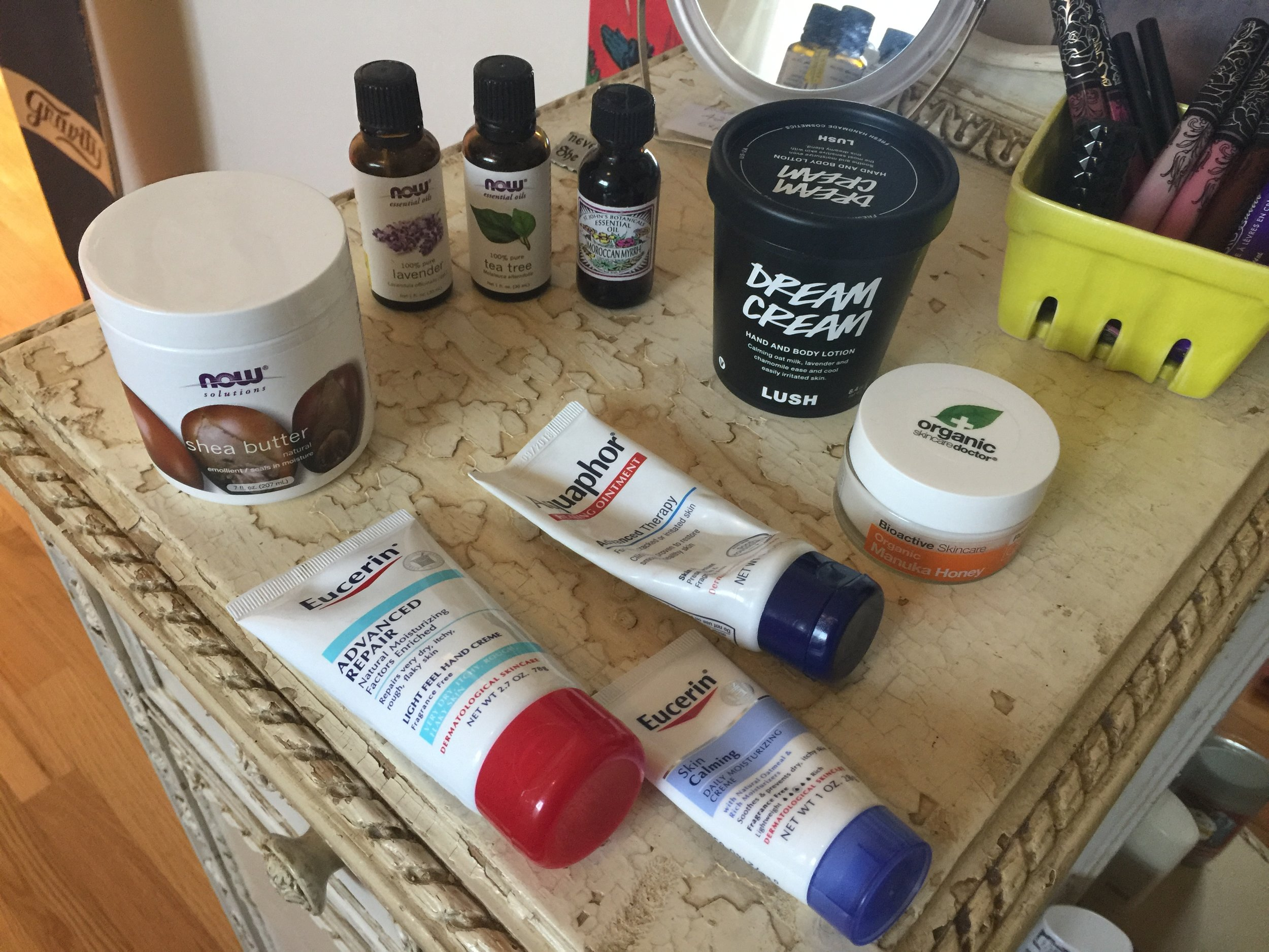 All of the topical products I was using.