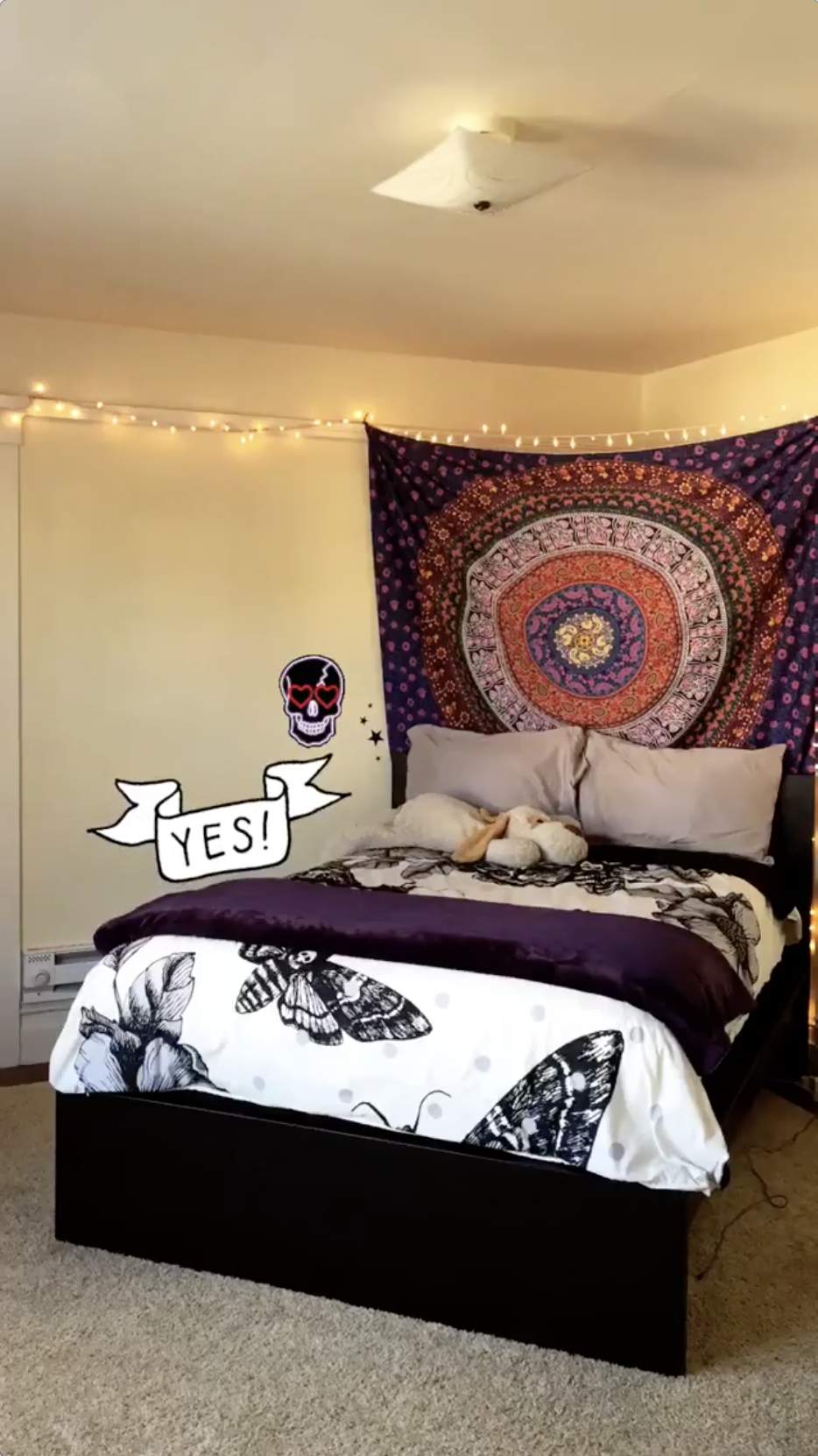 Lydia's room. No, that is definitely not a stuffed animal…