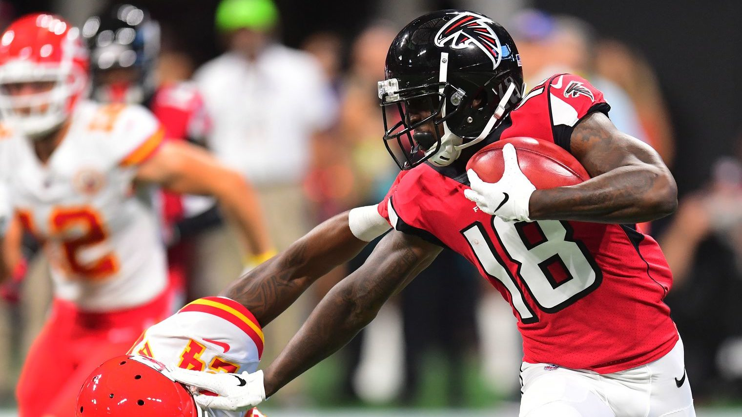"""Quick Hits from Week 3   Sept. 24, 2018  @FootballNuke  For the week 3 postmortem, I did some stacking. I stacked guys that are for real and should be in your lineup the rest of the season. I stacked some guys to keep, that aren't quite reliable yet but are worthy of a flex spot in the right matchup. There is a stack of players to go get, and lastly some players to drop.  For Real  –    Pat Mahomes  – a lot of analysts thought the toughest part of Mahomes' schedule would be the first four games of the year. Let that sink in….   Calvin Ridley  – What a coming out party for Ridley this week – 146 yards and three TDs! Ridley is the legit WR2 on the Falcons. The only question now is will he have better numbers than Julio at year-end?   Antonio Callaway  –  Baker Mayfield  threw to Callaway a LOT in the preseason. With the departure of  Josh Gordon , the path is clear for Callaway, who was one drop away from having a 100 yards and a touchdown. Landry will be the target monster the rest of the way. Callaway will be the high upside, week winner.   Kerryon Johnson  – The Lions are realizing they have their starting running back, and it is  not Legarrette Blount . Johnson looked great against the Patriots. The Lions need to keep feeding that beast.  Keep 'em -   Rashaad Penny  – If you have the roster space, Penny is definitely a keeper. I know  Chris Carson  had 32 carries Sunday to Penny's three, but Carson's is injury prone. Keep Penny as the handcuff if you can. P.S. we just don't know when the tables will turn on this situation… but they  will  turn.   Ryan Fitzpatrick  – The """"magic"""" looked like it was lost in the first half of the game against the Steelers tonight, but Fitzy rallied and threw for another 400 yards. The Bucs can't bench this guy for  Jameis Winston  in week five, can they?   Sony Michel  – He got the bulk of the backfield work in the Sunday night game against Detroit. He's a first-round pick and I expect to see more opportunities for Michel as we get fu"""