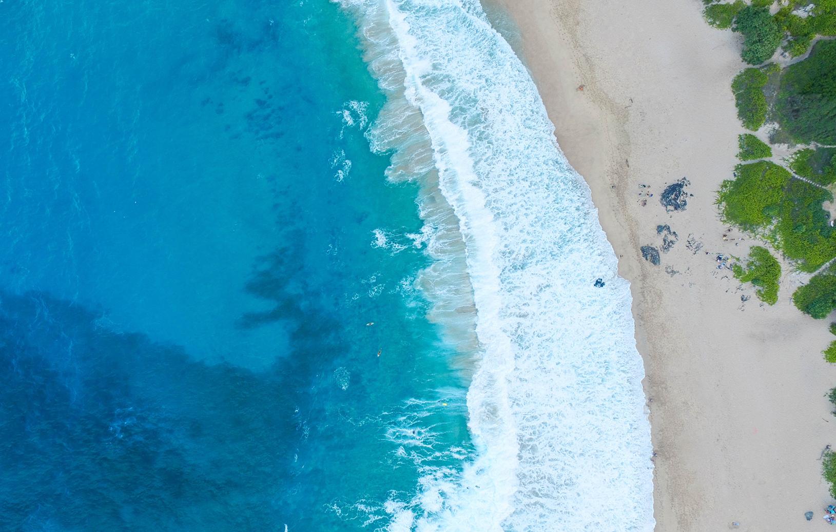 beach blue water