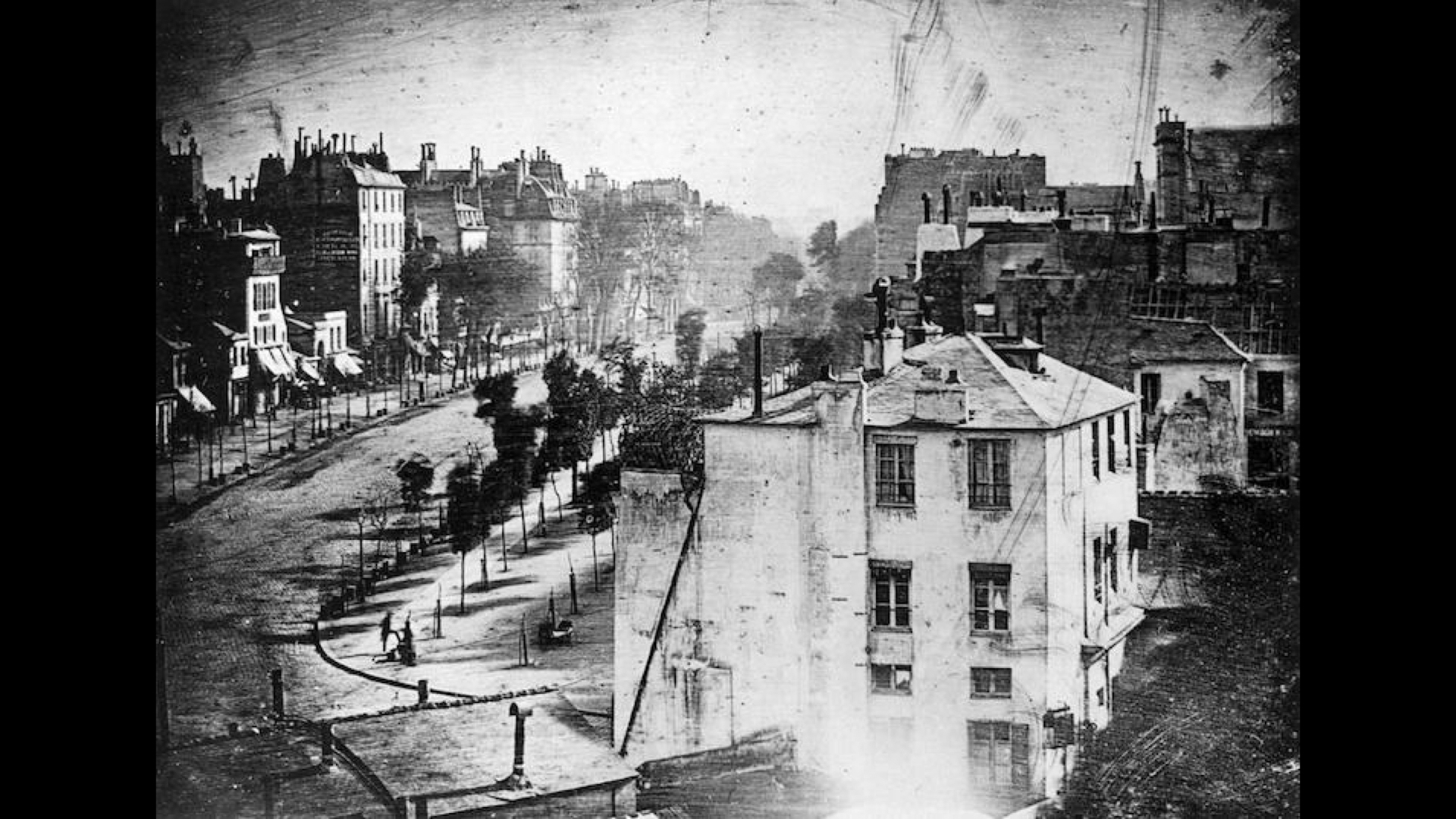 The first photograph with people.