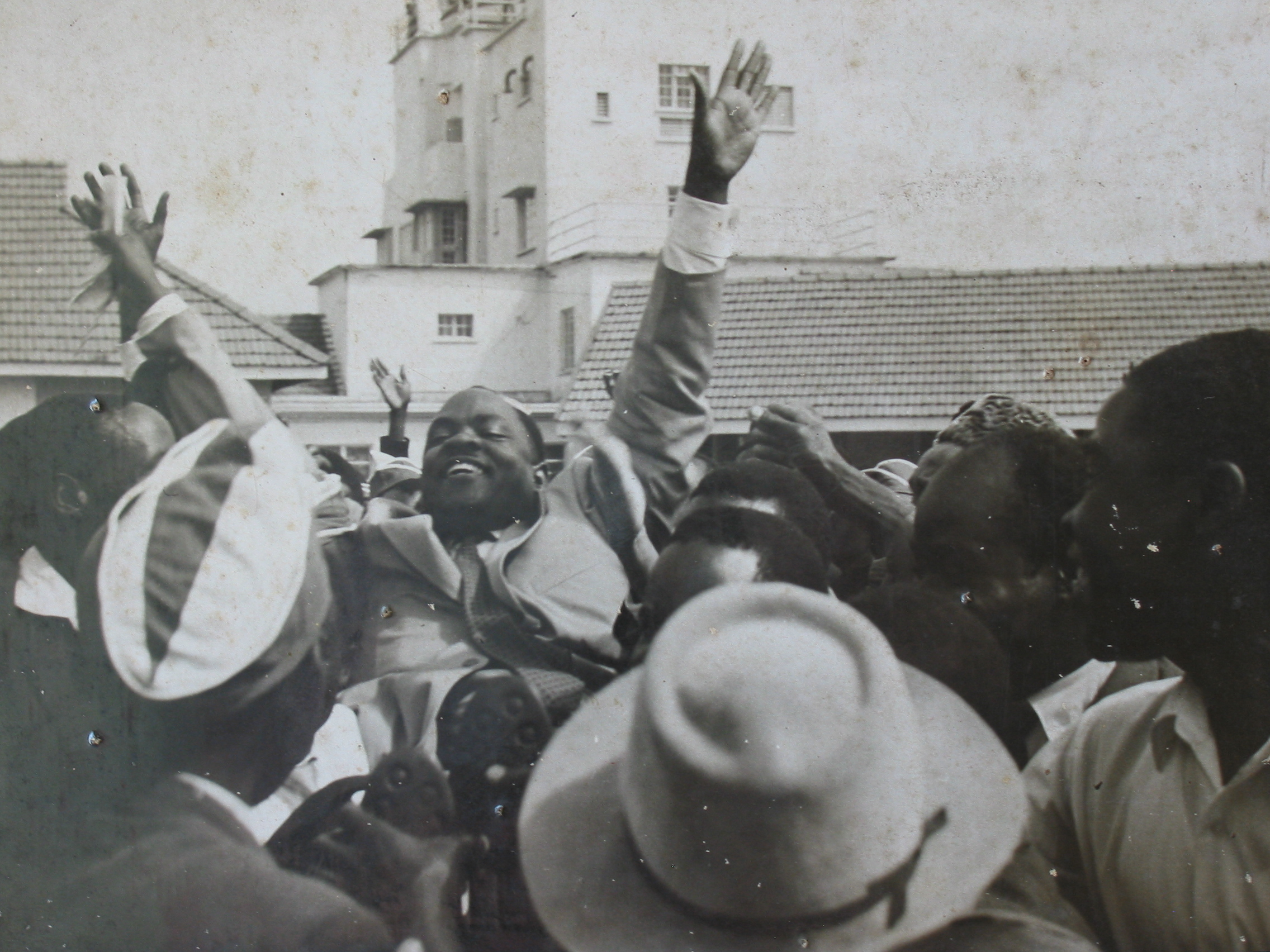 Source: Shortly following the election that secured the Democratic Party's electoral victory; Benedicto Kiwanuka became Uganda's first elected prime minister, 1961 (BK Private Papers).