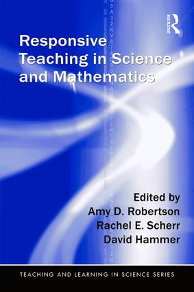 Responsive Teaching in Science and Mathematics - I wrote a chapter in this book concerning teaching strategies in the classroom.Book Description:Answering calls in recent reform documents to shape instruction in response to students' ideas while integrating key concepts and scientific and/or mathematical practices, this text presents the concept of responsive teaching, synthesizes existing research, and examines implications for both research and teaching. Case studies across the curriculum from elementary school through adult education illustrate the variety of forms this approach to instruction and learning can take, what is common among them, and how teachers and students experience it. The cases include intellectual products of students' work in responsive classrooms and address assessment methods and issues. Many of the cases are supplemented with online resources (http://www.studentsthinking.org/rtsm) including classroom video and extensive transcripts, providing readers with additional opportunities to immerse themselves in responsive classrooms and to see for themselves what these environments look and feel like.