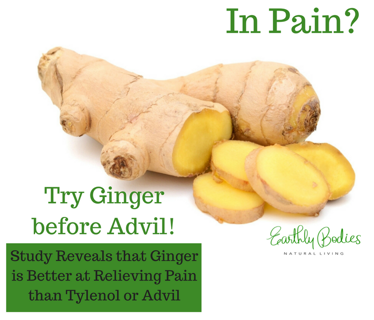During this miraculous time of the month (or for pain in general) make tea from fresh ginger and ditch the drugs!