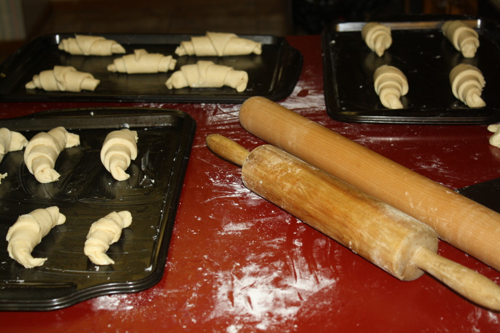 The croissants before they had risen