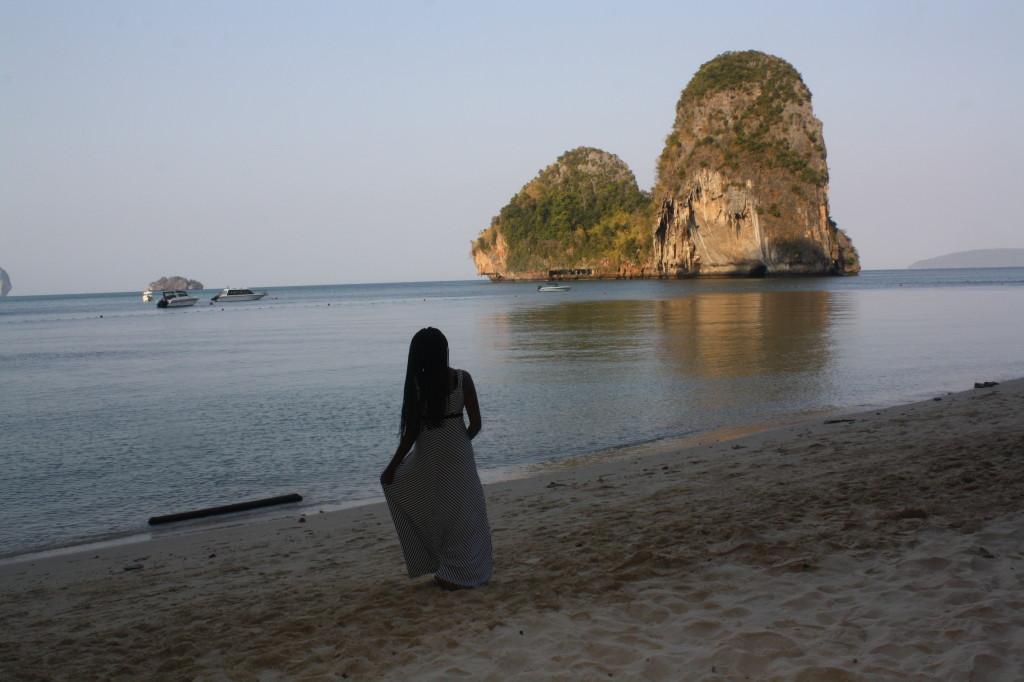 Admiring Koh Nok from Phranang Beach
