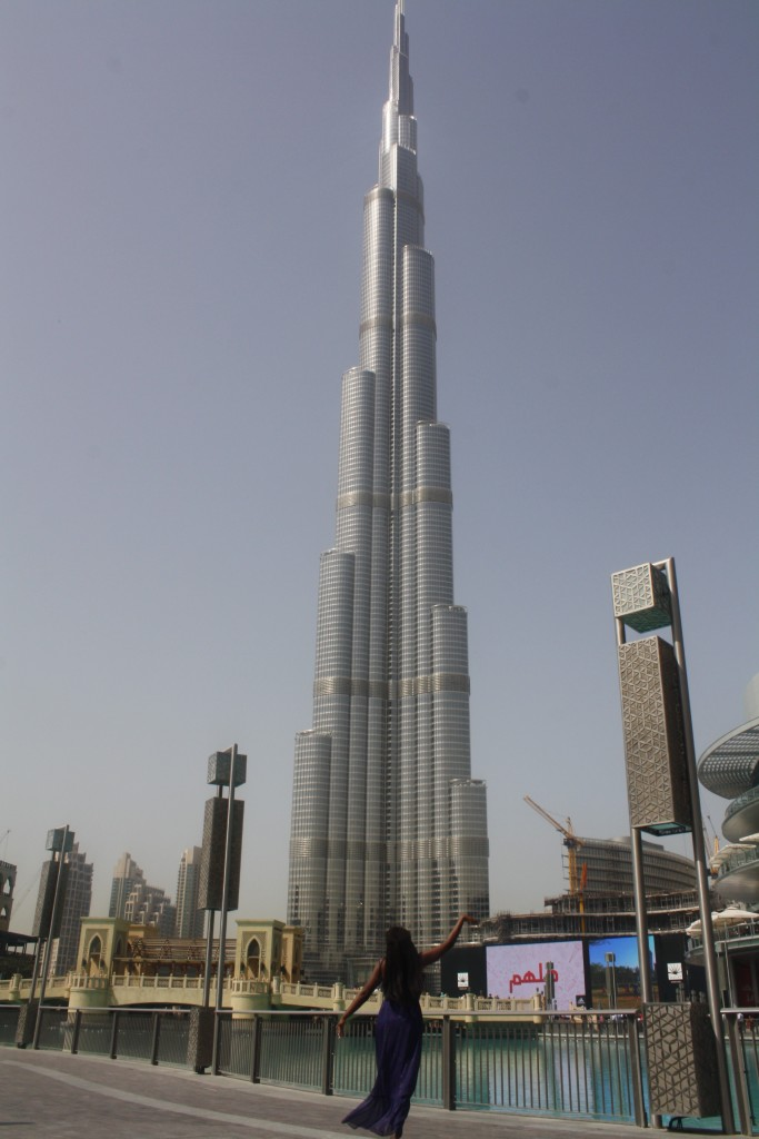 The Burj Khaifa, the tallest manmade structure in the world