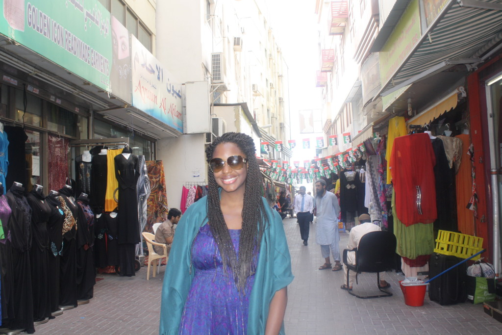 Wandering the streets of Dubai en route to the Spice Souk.