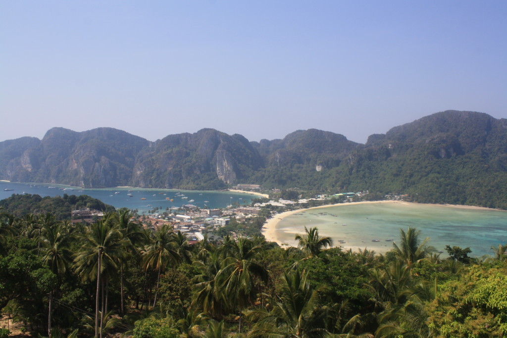 "View of both Koh Phi Phi Don and Koh Phi Phi Leh from ""Viewing Point"""