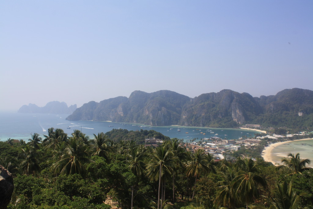 "View from the ""Viewing Point"" at Koh Phi Phi"
