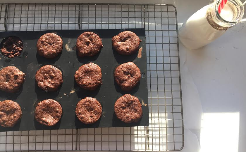 Allow the brownies to cool in their pan for 10 minutes so that they retain their shape.