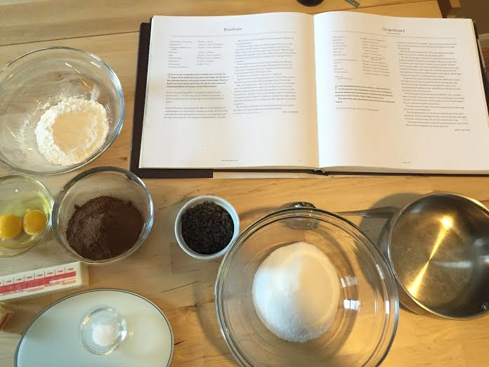 Brownie mise-en-place