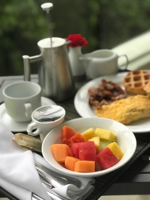 Who can turn down room service?