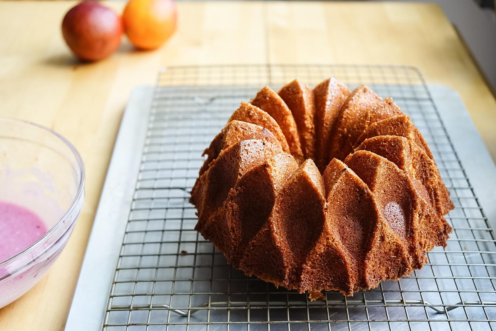 Blood Orange Olive Oil Bundt Cake