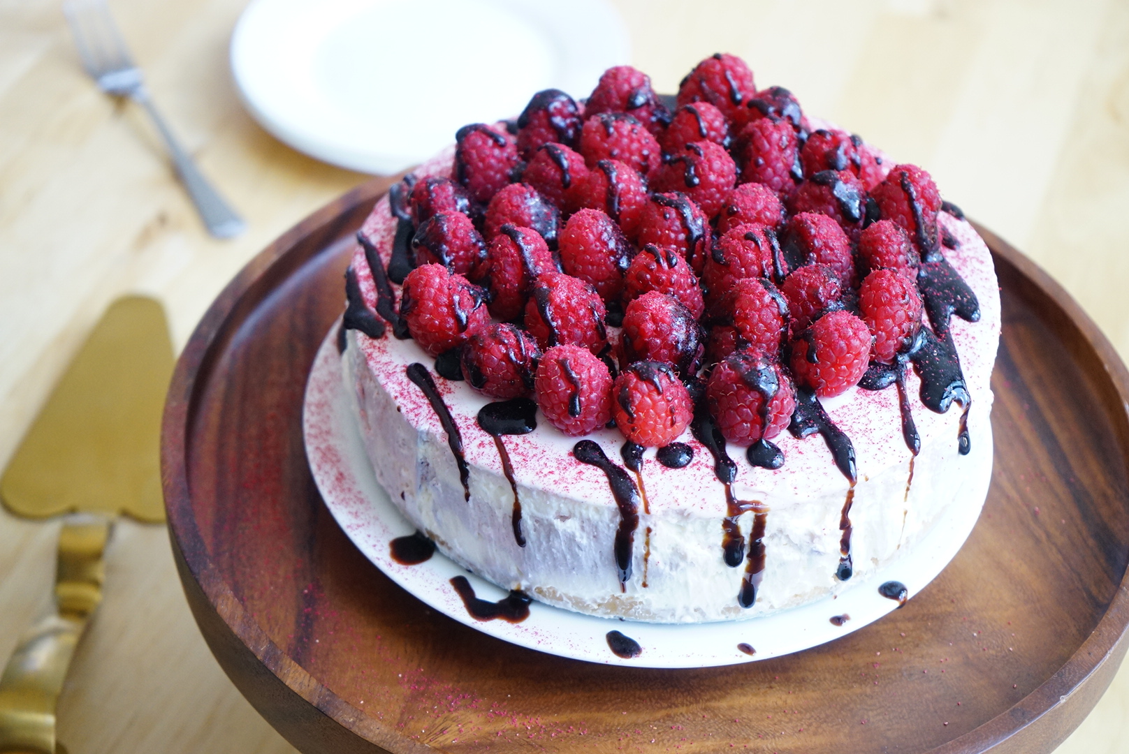Raspberry Balsamic Cheesecake