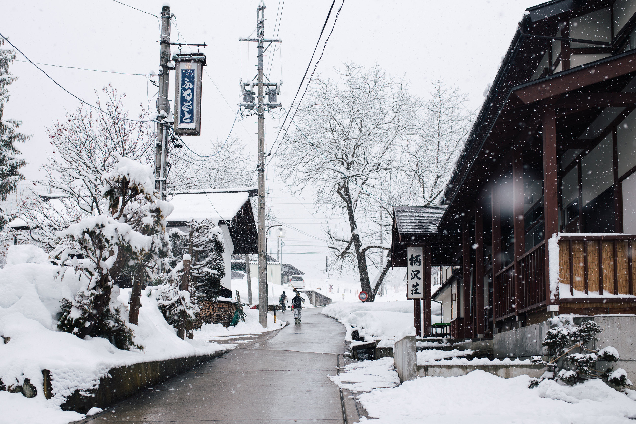 Meanwhile, Annabelle is enjoying the snow in Nozawa Onsen, Japan