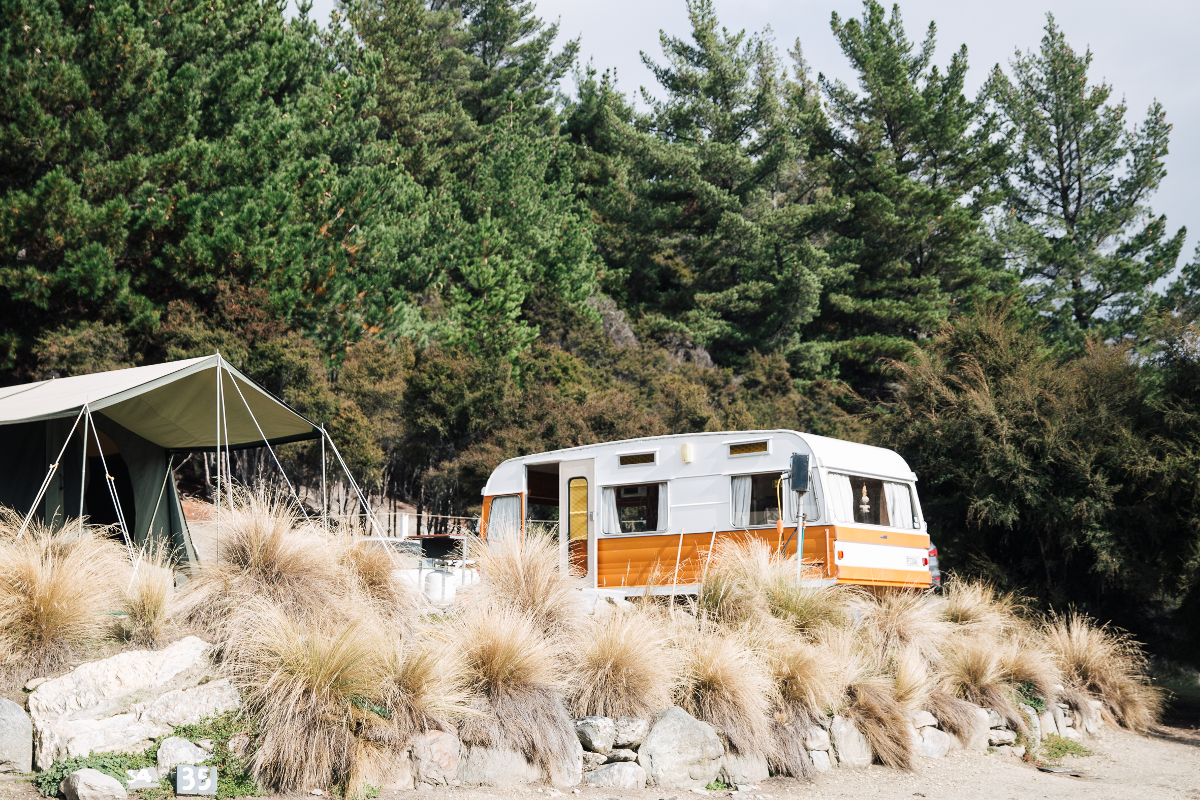 Gillian dreams of bondwood caravans and Annabelle digs up some caravan photos from her camping trip to New Zealand