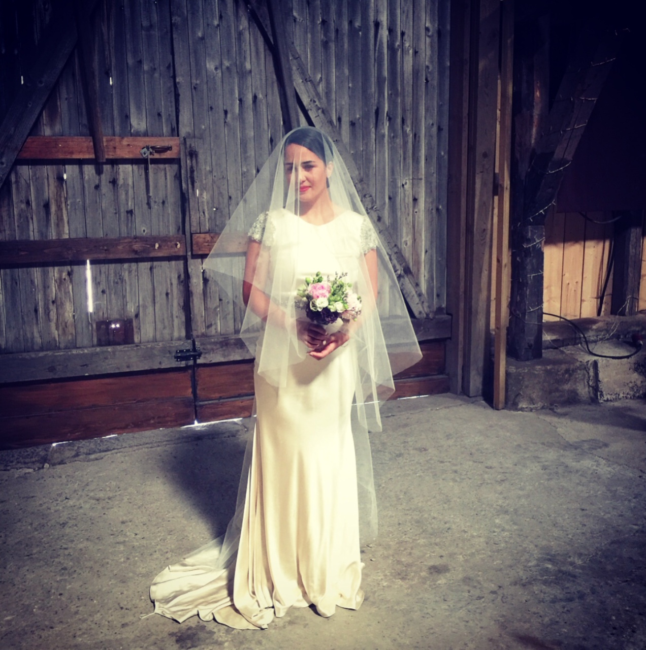 The beautiful Mimmi on her wedding day.