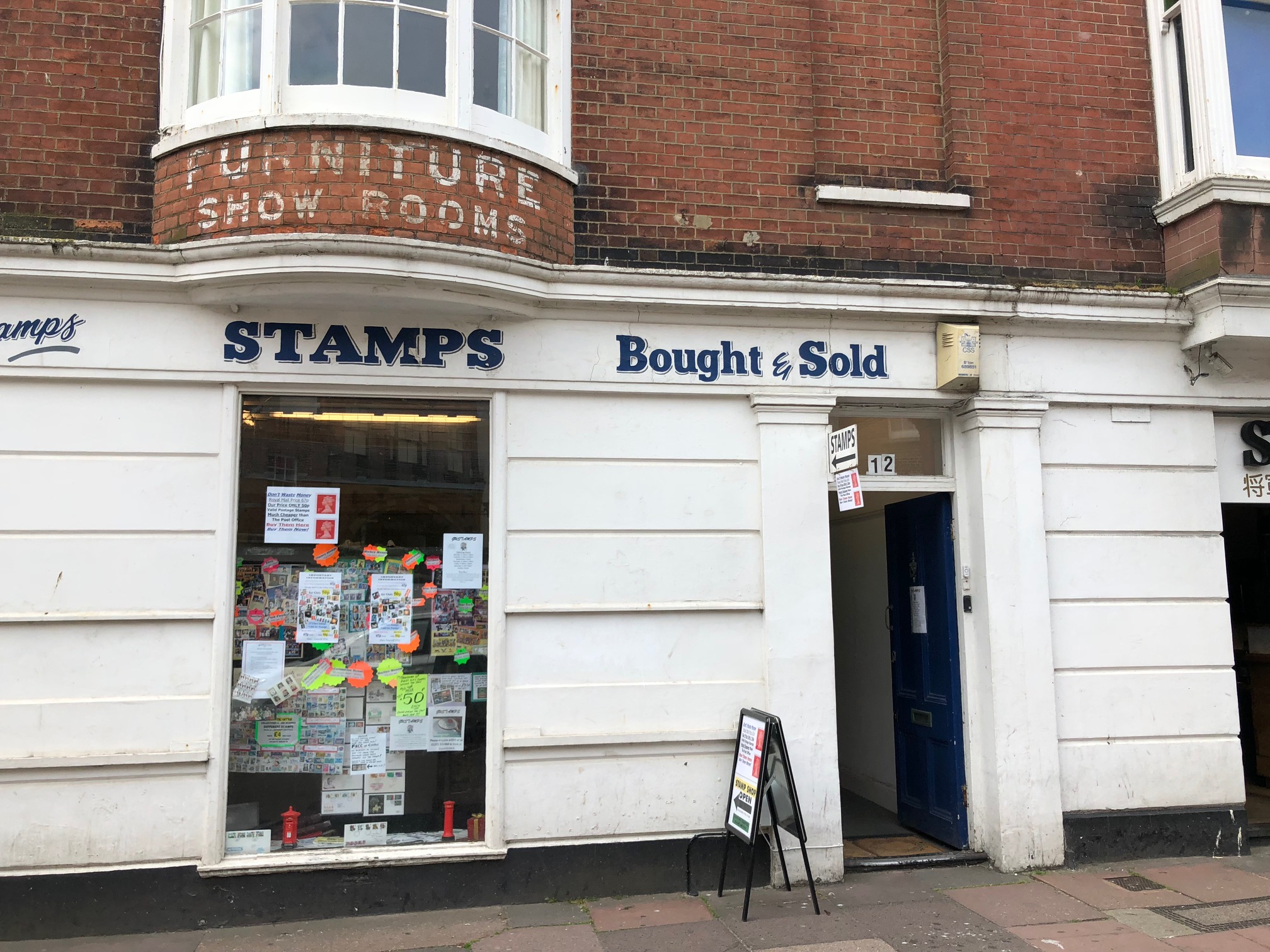 A serendipitous find in Brighton, Sussex. Old stamps that are still legal tender. Just the ticket for my dispatches to Annabelle!