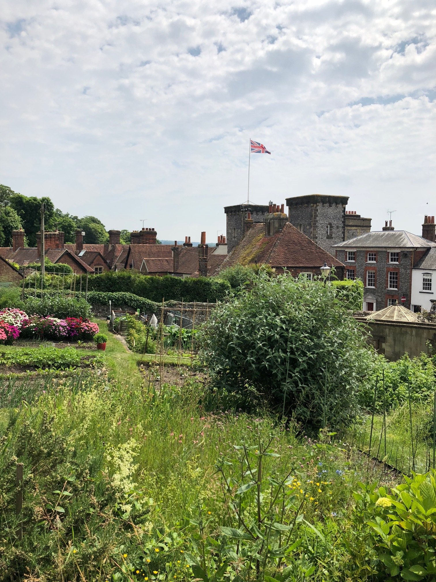 Another view from Felicity's allotment. I want to live there.
