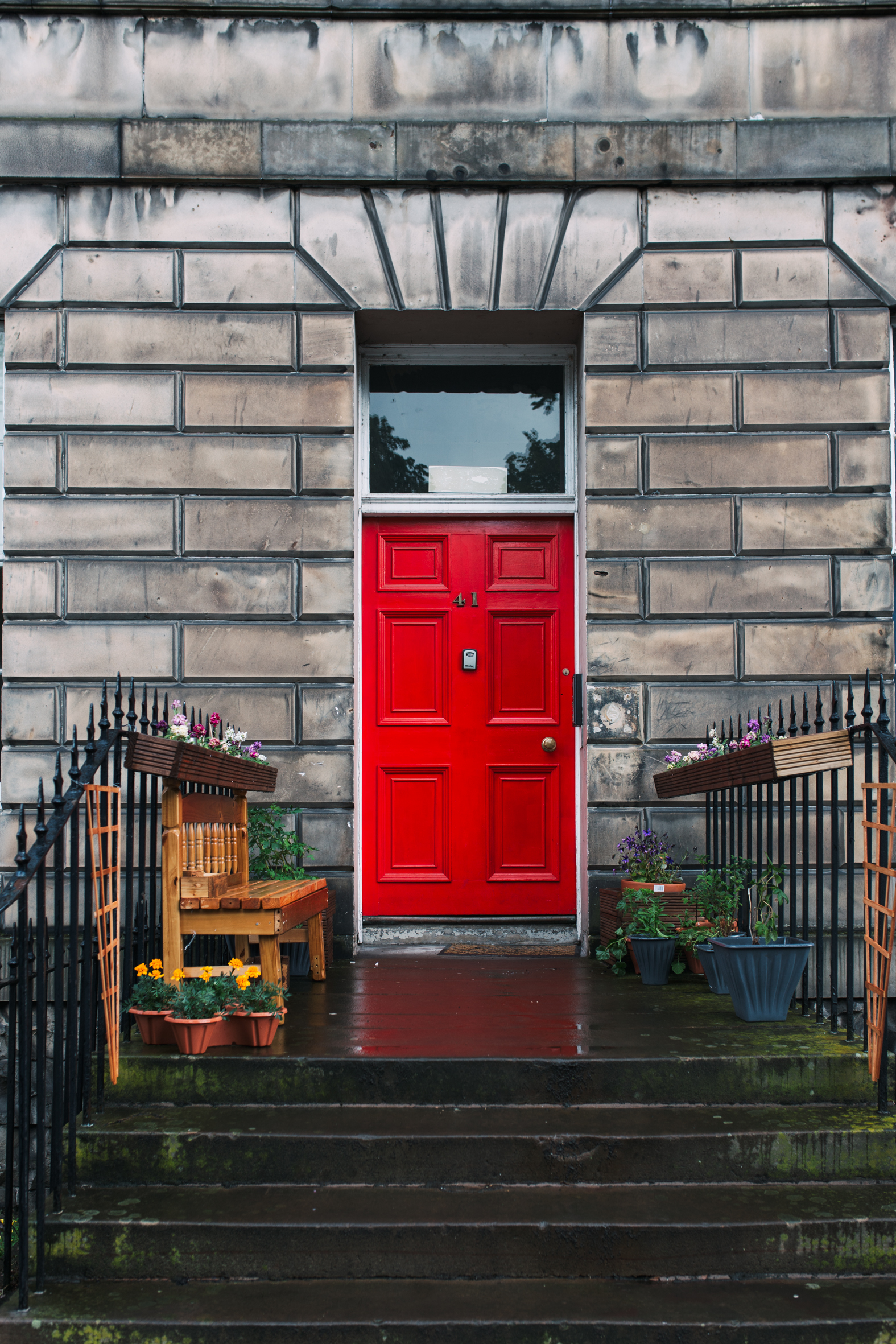 The light, the painted doors, the stone buildings, the fact that you needed a heavy blanket on your bed in the height of summer - everything about Edinburgh was charming. Could have stayed for months.