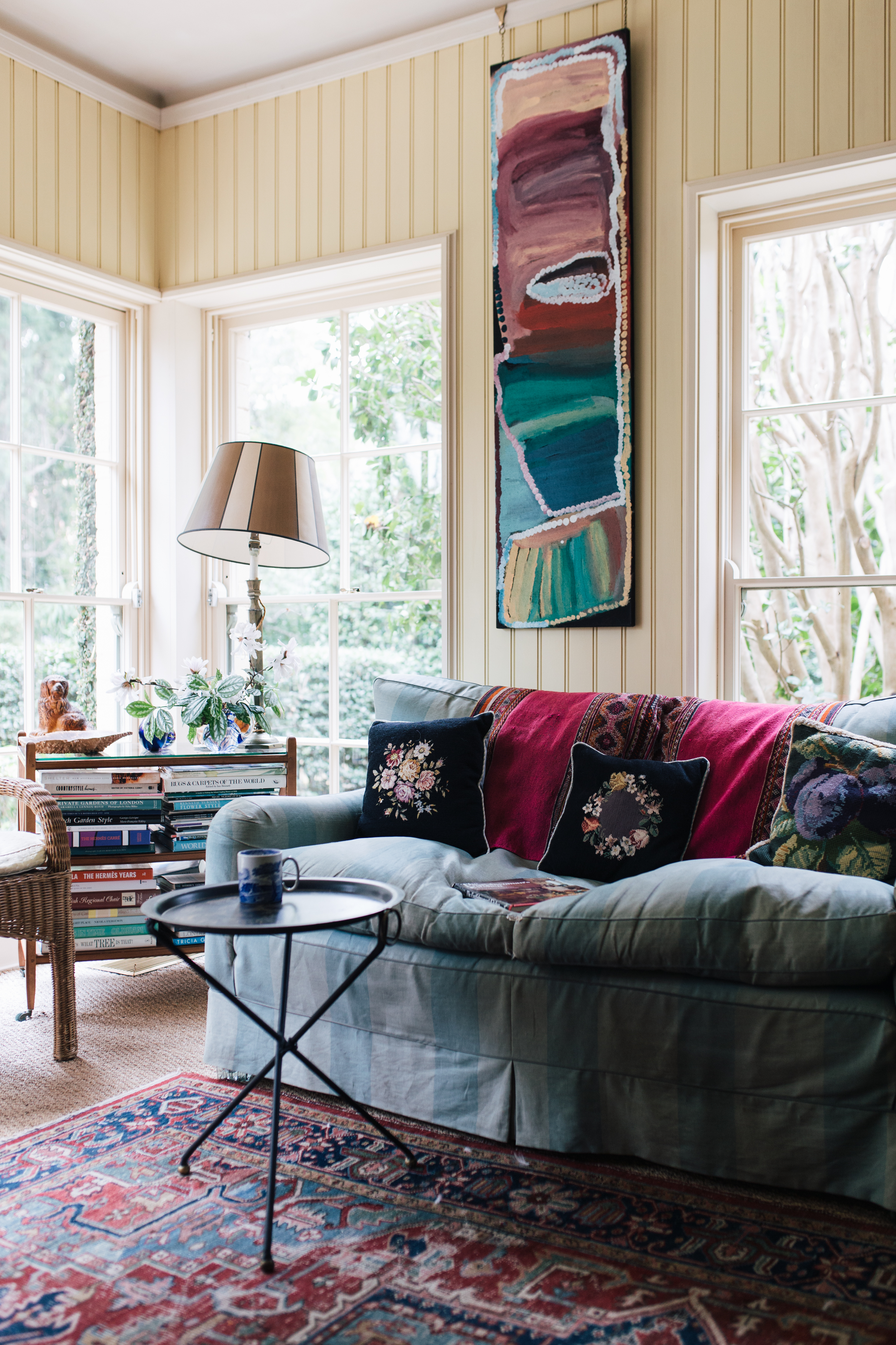 And the perfect spot to read it: Annabelle's mum's sofa