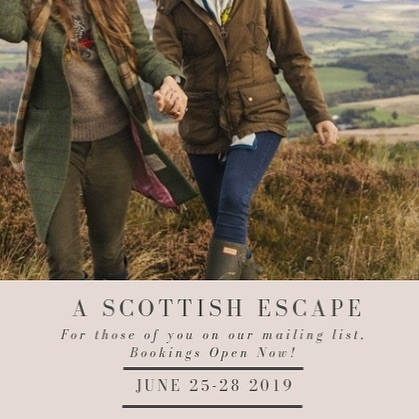 We are jumping for joy!  And we're secretly hoping for mist in the valley so we can wear our tweeds, even though it'll be early summer when we're there.  If you're on our mailing list - be quick! Check your inbox!  Love and best wishes, Annabelle & Gillian