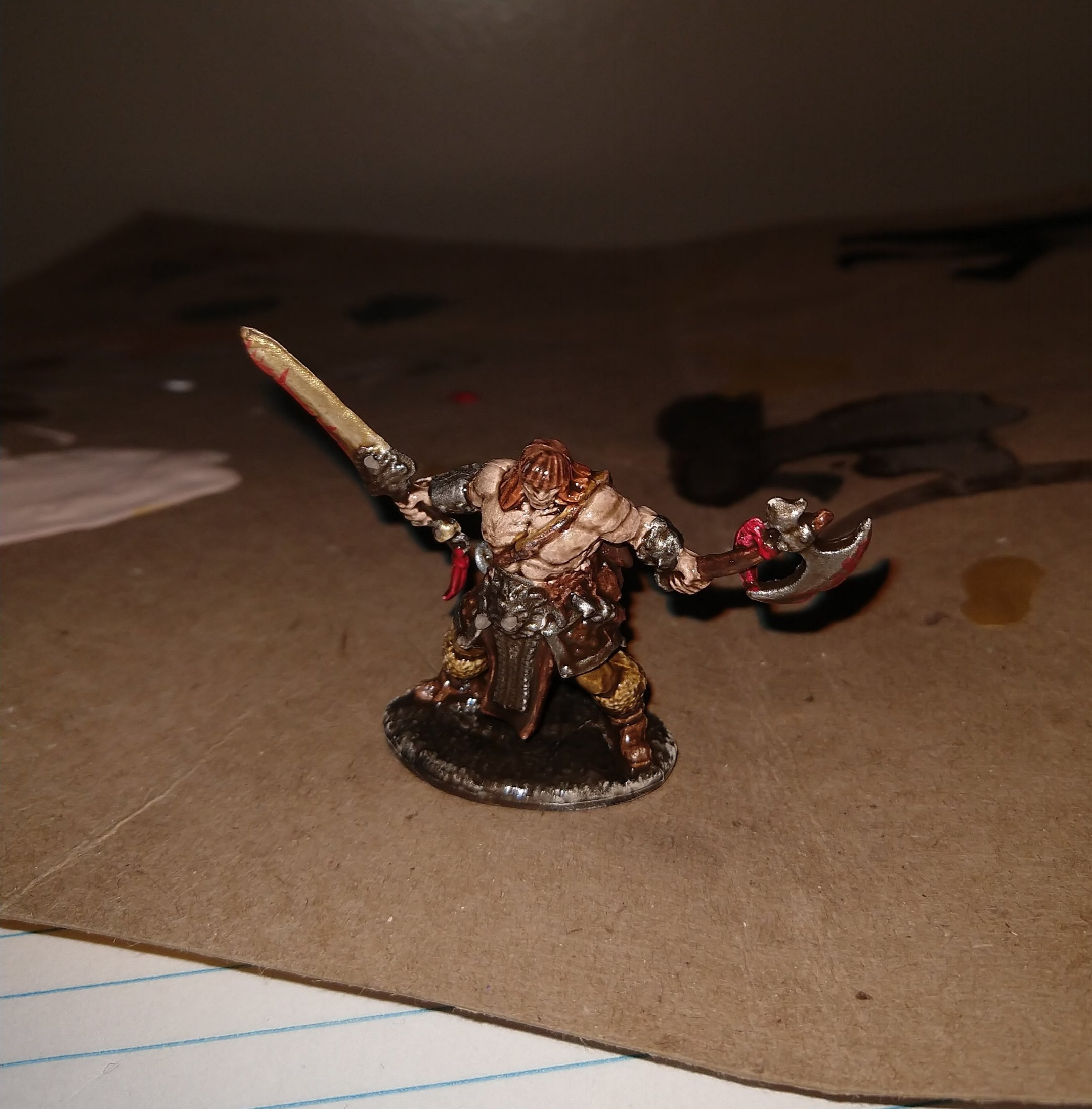 Zorn before adding a clear coat looking extra shiny even in low light.