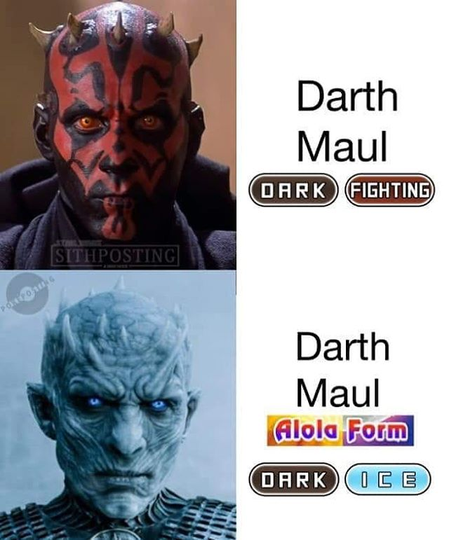This is the best #starwars #gameofthrones #pokemon #darthmaul
