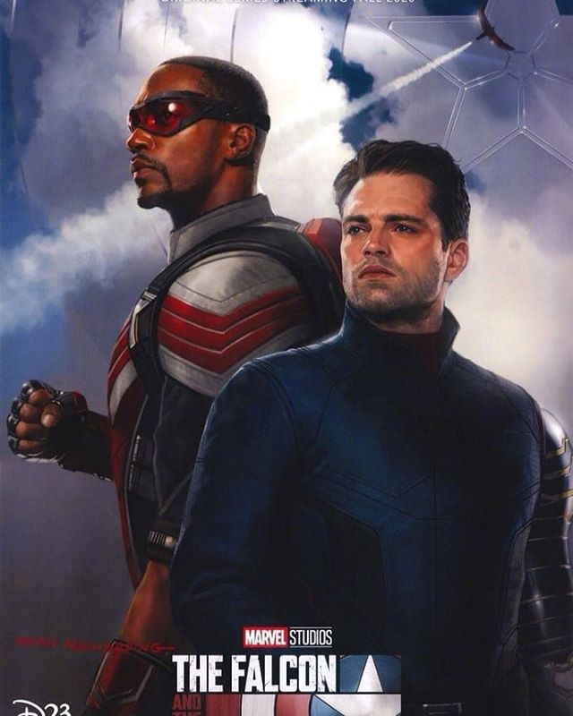 Official poster for @marvelstudios upcoming Falcon and Winter Soldier series for their @disneyplus streaming platform. #marvel #disneyplus #falconandwintersoldier