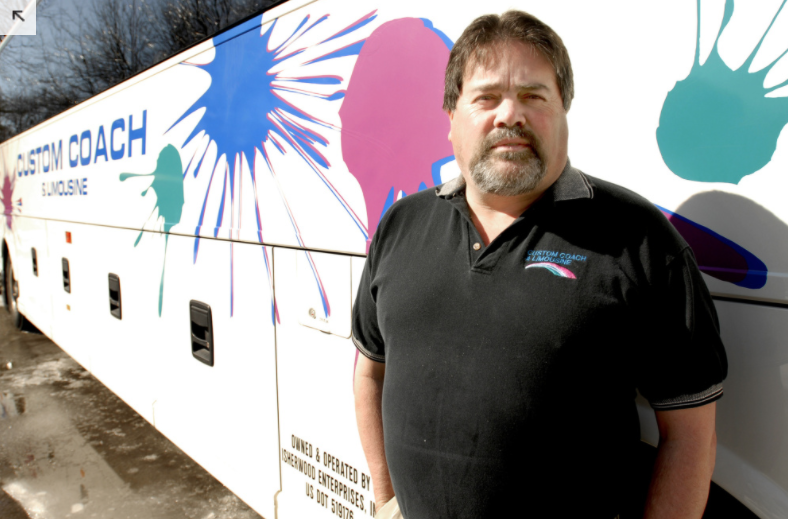 PRESS HERALD FILE PHOTO: Gregg Isherwood, seen in 2008, says his bus company, Custom Coach and Limousine, and others did not get a chance to bid on a USM student shuttle before the Metro public service was chosen.