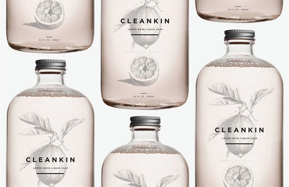 Visual identity for CleanKin brand. Image courtesy of Marks and Make r .