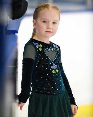 - Brave movie costume for young figure skater