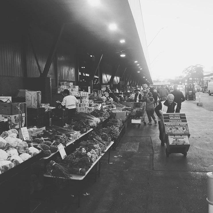 Early morning market run