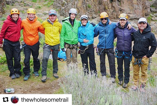 Advisor rainbow at the multi pitch training! By @thewholesometrail