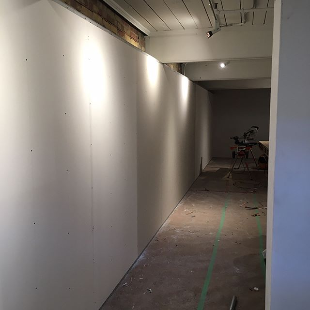 Just boarded a commercial job on Queen West. Ready for taping. . . . . . . . #drywall #taping #tapetech #northstar #construction #workflow #cgc #sheetrock #gp #georgiapacific #marshalltown #toronto #canada #the6 #drywallnation #drywaller #drywallfinisher #customhomes #contractor #mississauga #milton #oakville #georgetown