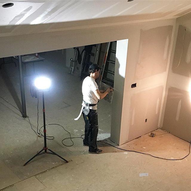 Horsin around . . . . . . . #drywall #taping #tapetech #northstar #construction #workflow #cgc #sheetrock #gp #georgiapacific #marshalltown #toronto #canada #the6 #drywallnation #drywaller #drywallfinisher #customhomes #contractor #mississauga #milton #oakville #georgetown