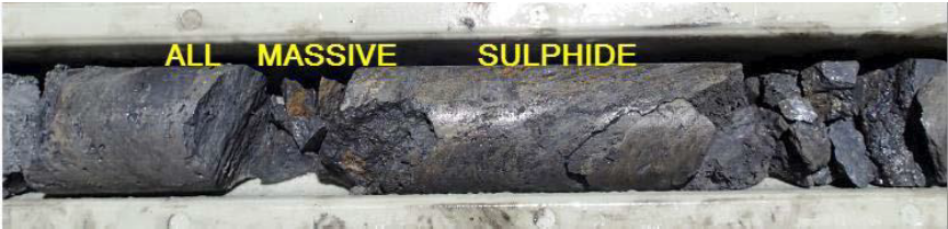DDH HP026: Section of HQ core from 37.3-38.3m downhole