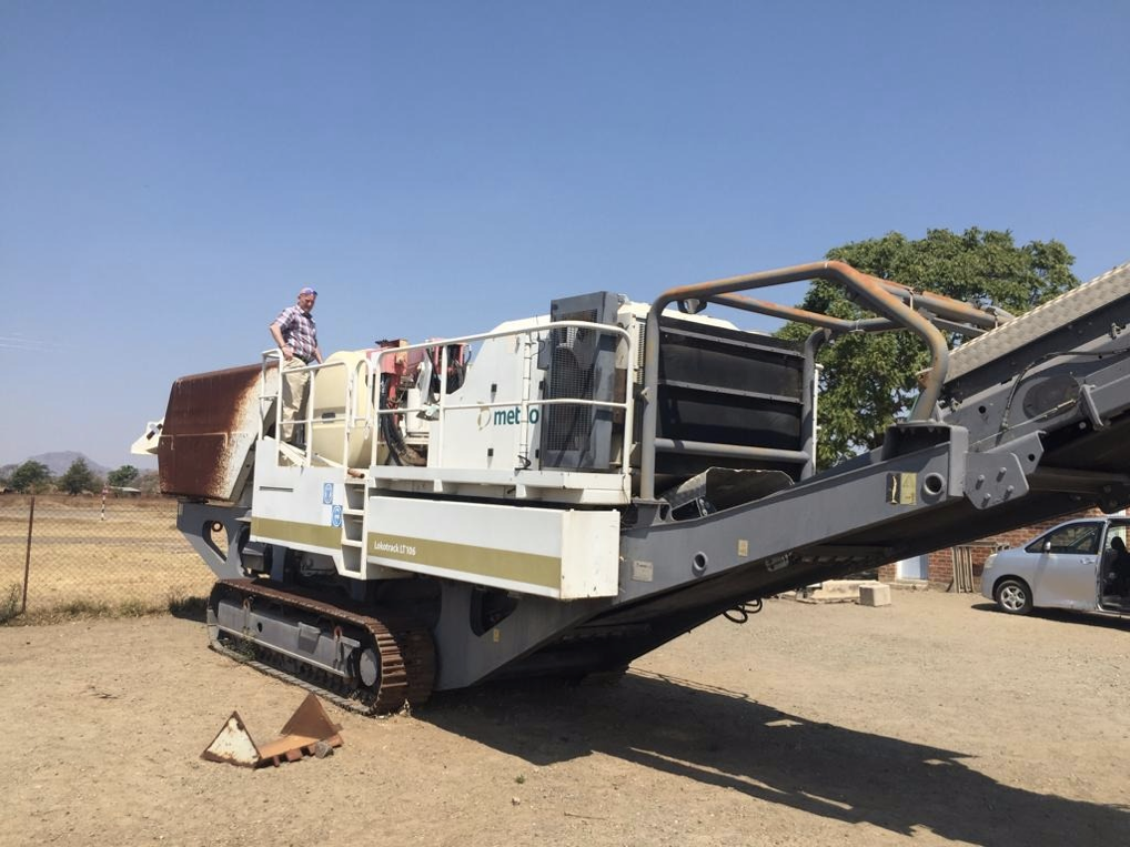Figure 3:  Mobile Mobile Jaw Crusher - Metso Locotrack LT 106