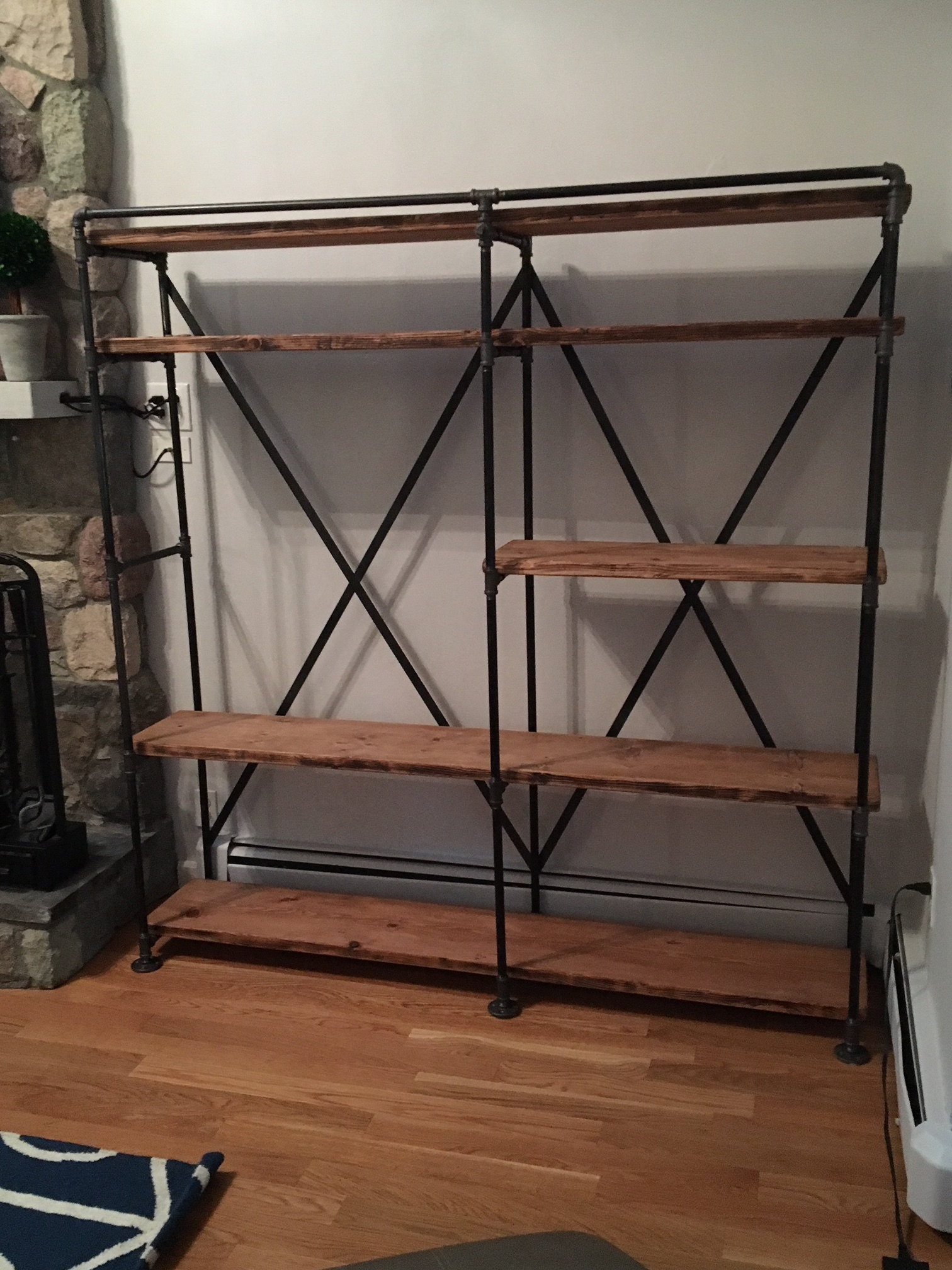 iron wood shelving unit.JPG
