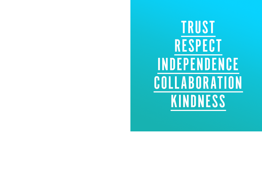 Our Values. - The foundation of a moonshot classroom is a set of collective values cultivated by teachers and students alike. We believe in a classroom culture of Trust, Respect, Independence, Collaboration and Kindness.