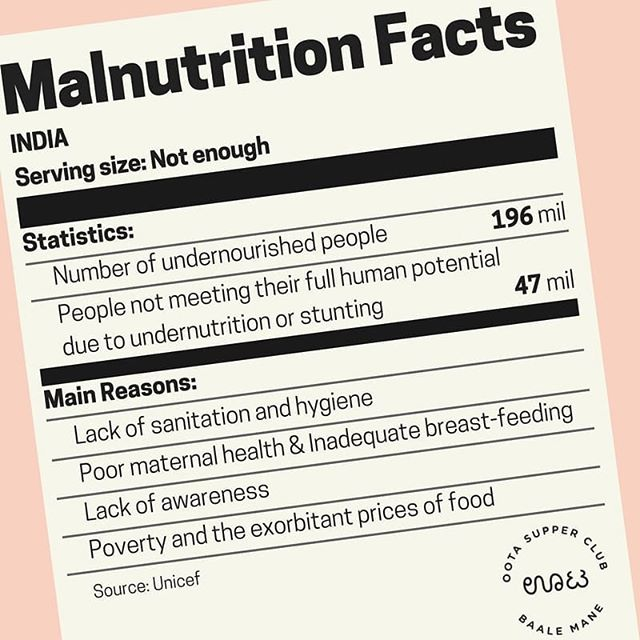 The first in a six part series we are running about malnutrition and it's impact on girls and women in India. Oota Stories celebrates the food cooked at Baale Mane and the strength we provide our girls through healthy, wholesome and regular meals, so good nutrition is very close to our hearts! 🌶️🥕🍚🍴💕 Graphics by Ishana Sundar, Baale Mane intern and design whizz 🌠
