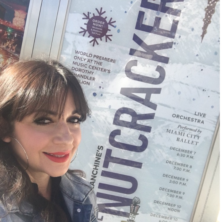 Selfie in front of a promotional poster for George Balanchine's The Nutcracker at the Walt Disney Concert Hall!