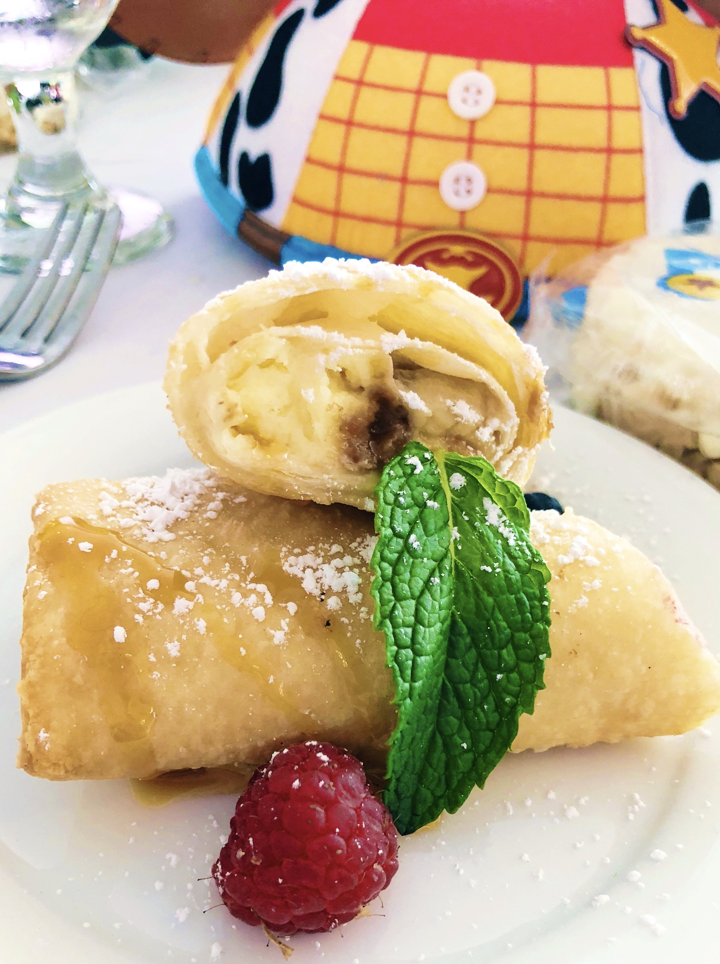 A mouthwatering banana dessert ended the luncheon with an additional sugar rush!