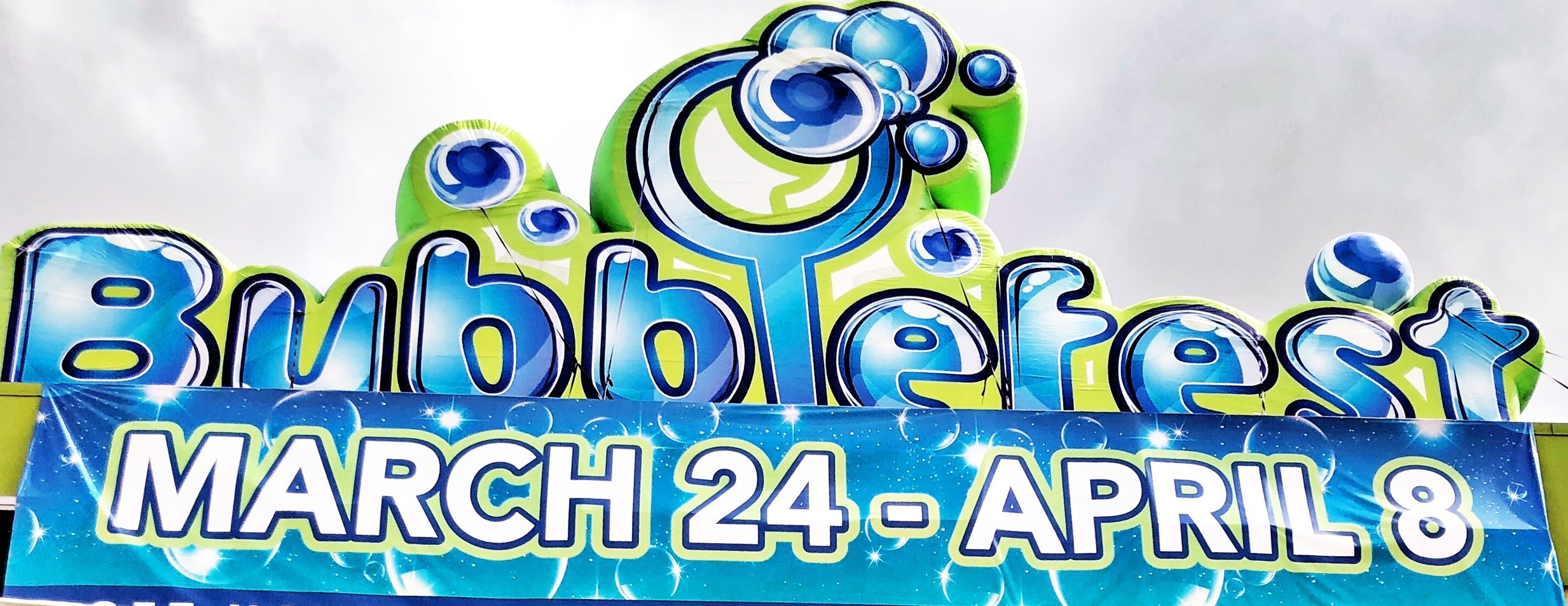 Bubblefest Sign view from I-5 freeway