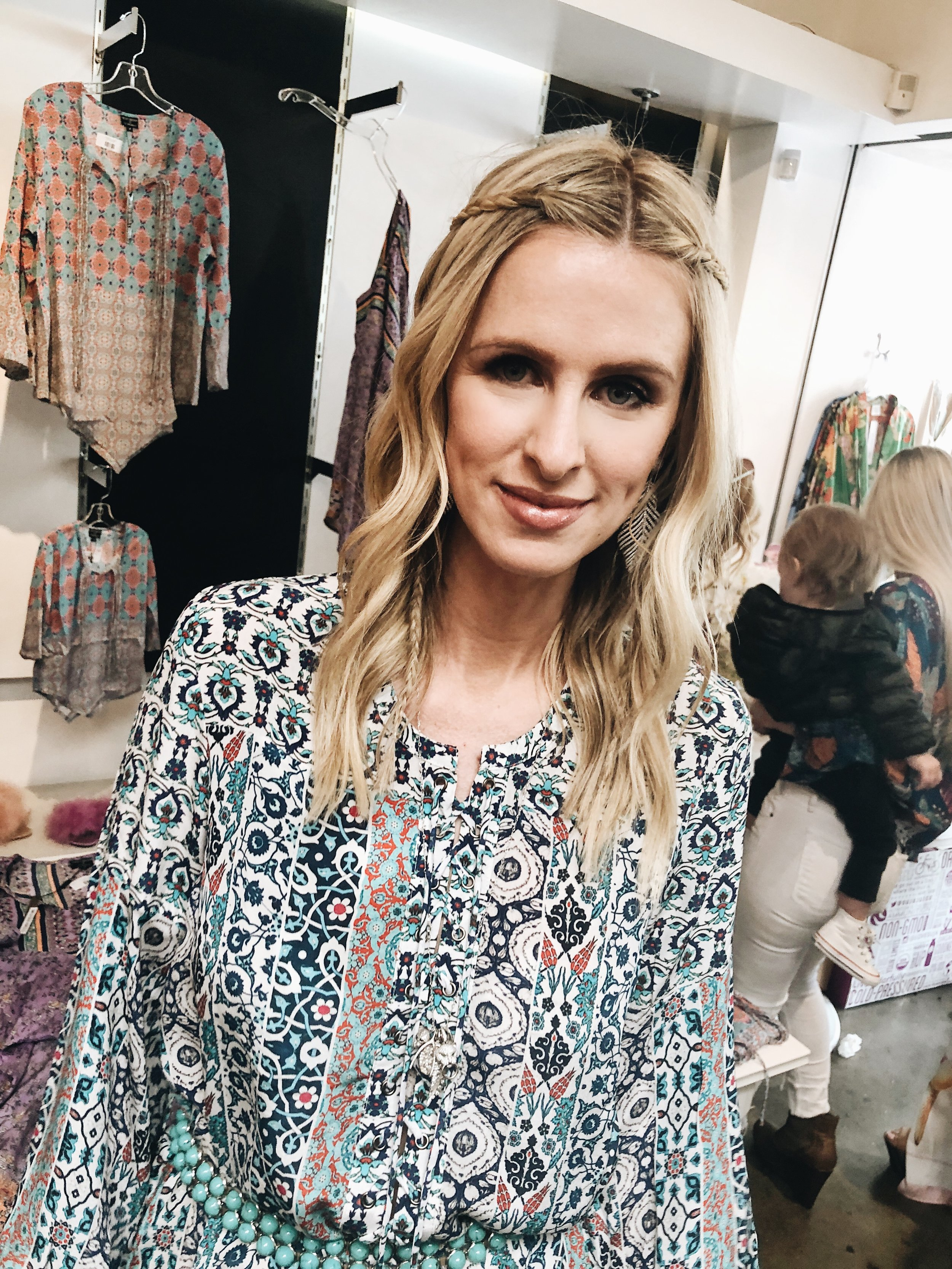 Nicky Hilton was super friendly and sweet. Her mom, dad and sister were there in support of her collaboration!