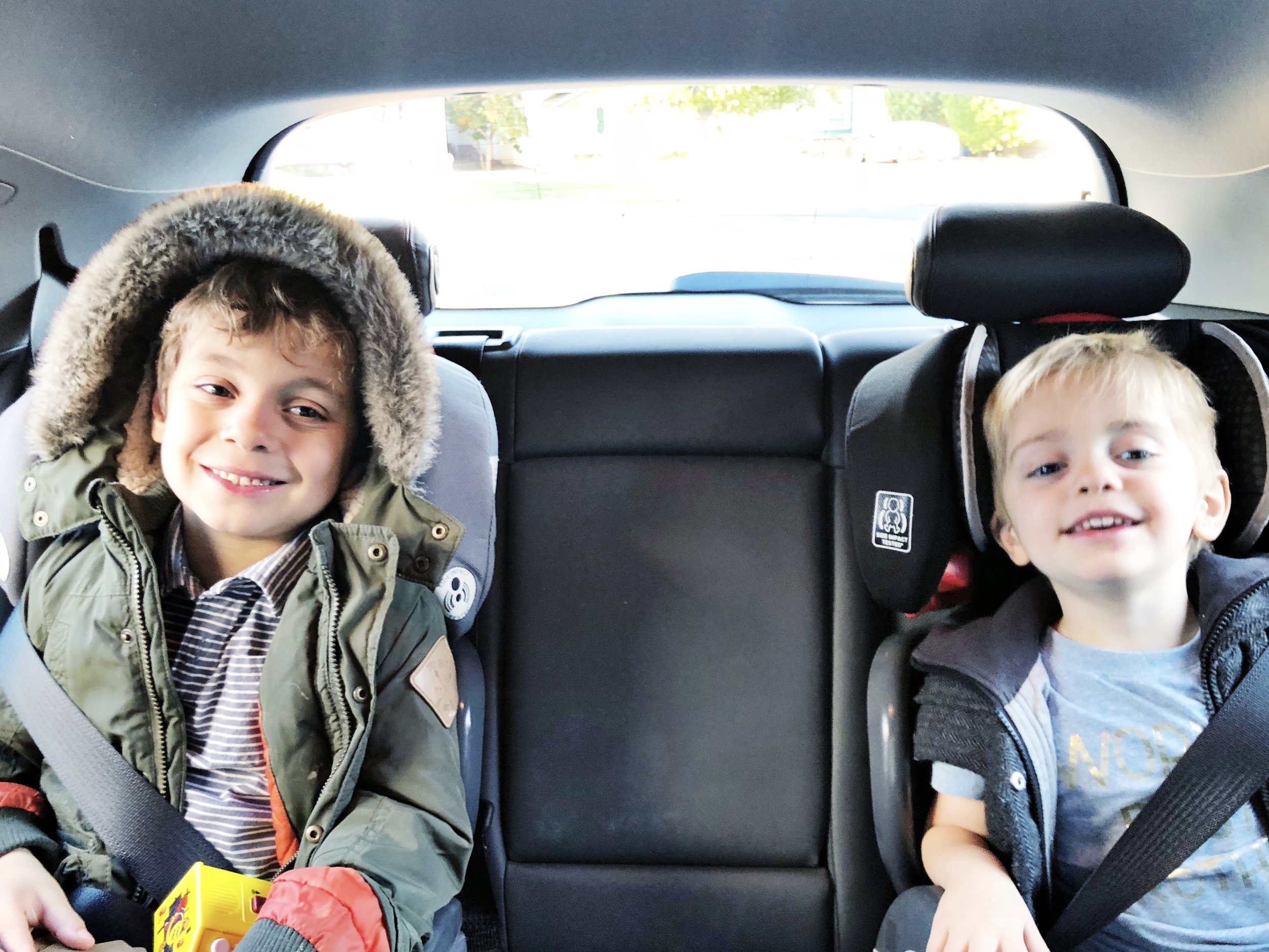 My boys were happy and confortable in the Chevy Bolt EV!