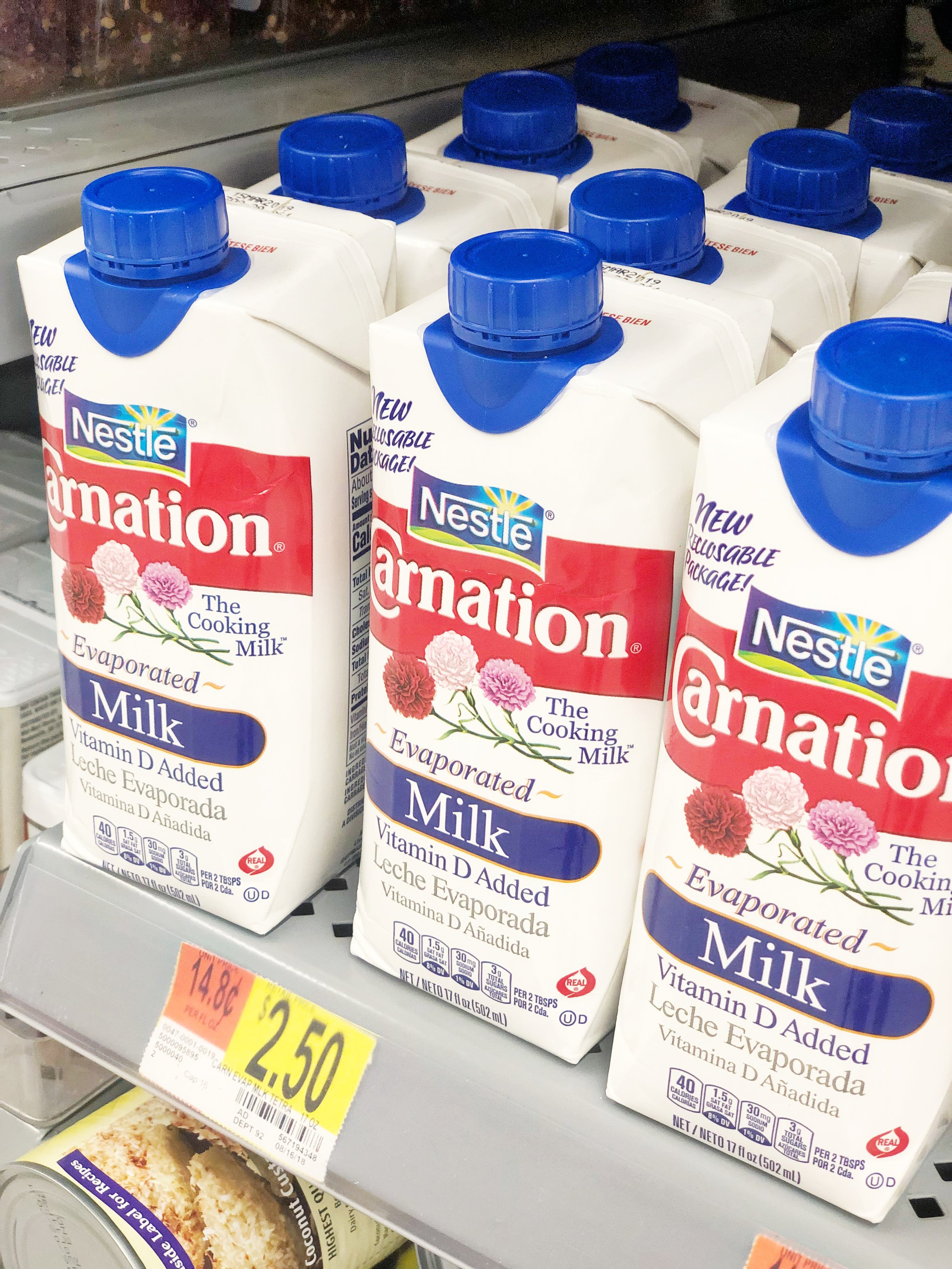 You can find Nestle Evaporated Milk in convenient and easy-to-use Tetra Pak at Walmart!