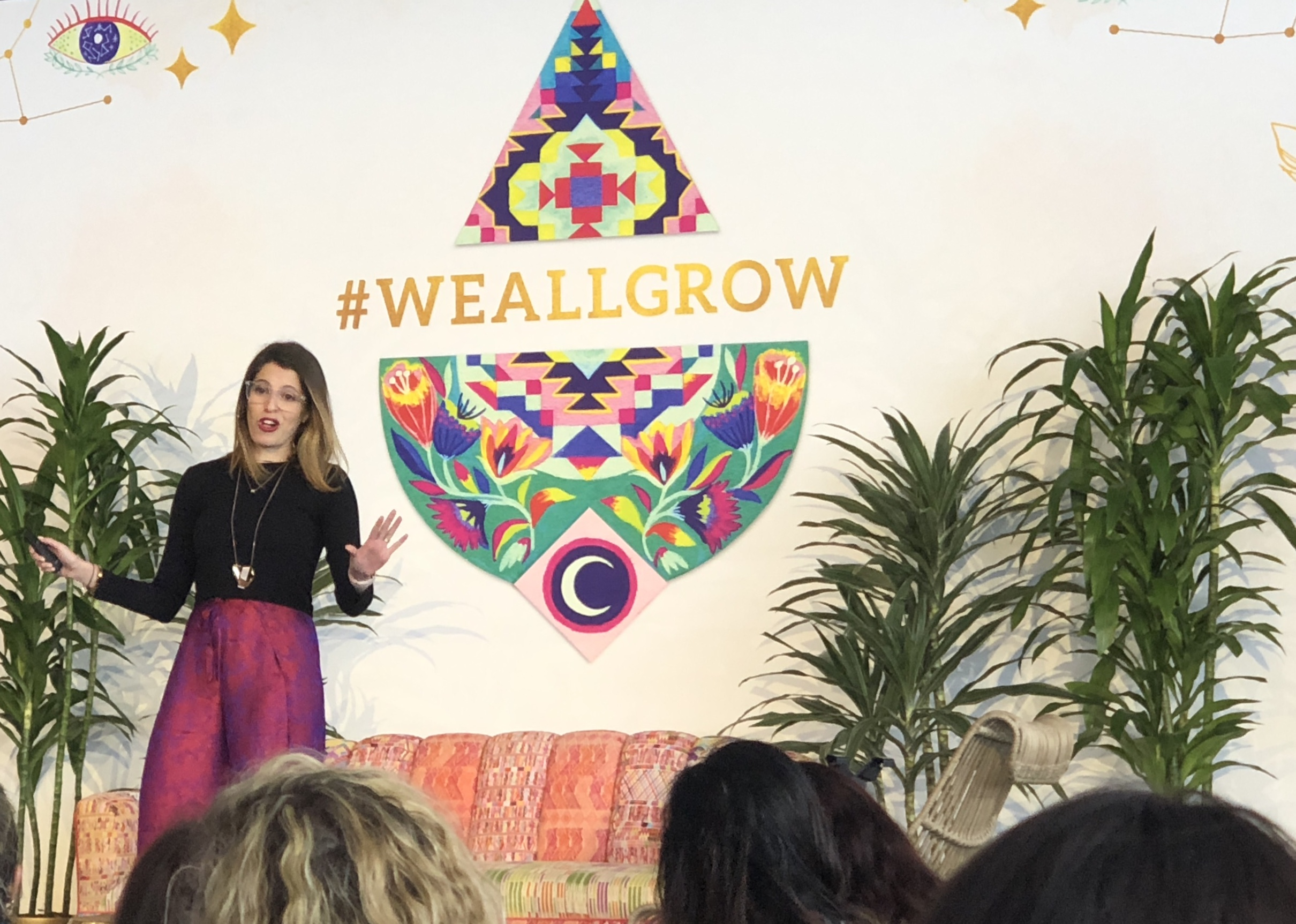 A Keynote speaker at the 2018 We All Grow Latina Summit